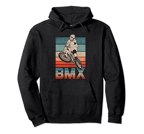 BMX Vintage Fahrrad Fans Geschenk Jungs Jugend Fahrrad BMX Pullover Hoodie