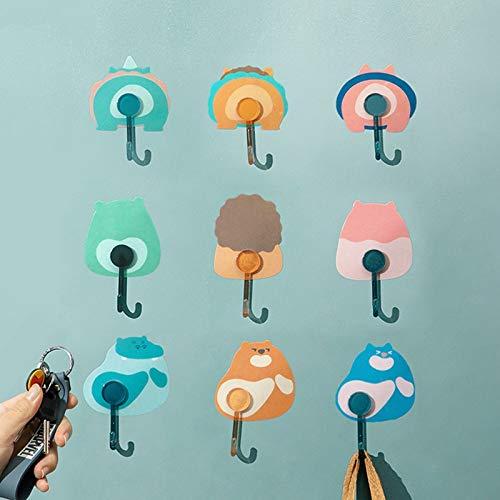 Gancho creativo de dibujos animados autoadhesivos para baño, cocina, colgador de pared para colgar en la puerta de la ropa, toallero, accesorio de gancho