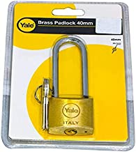 Yale Brass Padlock With Long Shackle, 40mm