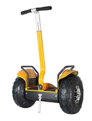 Smart Self Balance Scooter Personal Transporter 19 inch All Terrain Tires (Yellow)