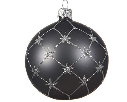 Kaemingk Lot de 6 Boules de Noël en étain avec étoiles argentées