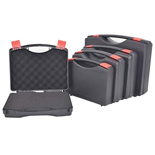 Estuche de plástico portátil para herramientas Maleta de protección de seguridad Estuche para instrumentos Estuche para instrumentos Caja para exteriores con espuma previa, 230x180x45mm