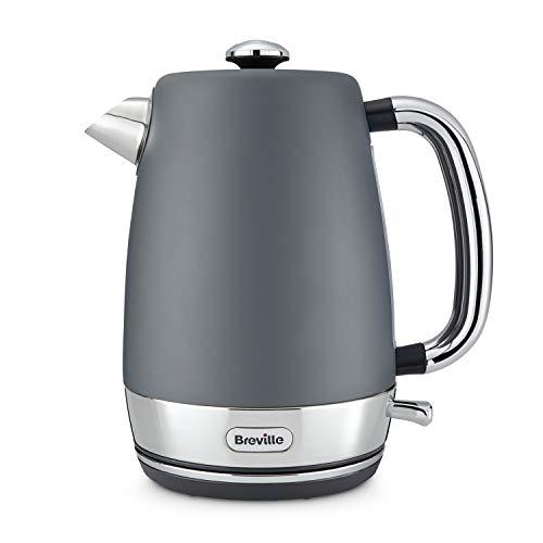 Breville Strata Electric Kettle, 1.7 Litre, 3 KW Fast Boil, Matt Grey [VKJ994]