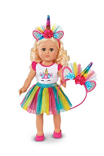 """My Life As 18"""" Poseable Unicorn Trainer Doll, Blonde Hair"""