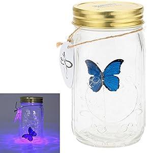 herebuy8romántico mariposas Collection- de mariposa en un tarro con lámpara LED