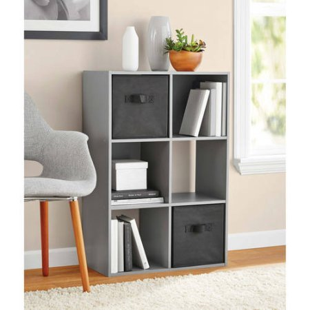 Mainstays 6 Cube Organizer, Multiple Colors (Gray)