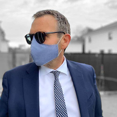 Business Herren Mundmaske Baumwolle Mundschutz Maske individuell anpassbar Brillenträger geeignet Mund-Nasenmaske