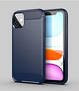 Suitable for Iphone 11 Mobile Phone Case Brushed Iphone 11 Protective Case Brushed Silicone Soft TPU Shell (BLUE)