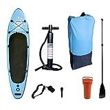 HYYK Tablas Paddle Surf, Paddle Surf Hinchable Tabla Surf Set 300x80x15cm, Sup Kit con Remo de Aluminio + Bomba +Accesorios Completos, para Que los jóvenes Adultos se diviertan en ríos