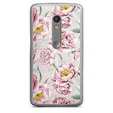 DeinDesign Coque Compatible avec Motorola Moto X Play Étui Housse pour Les Filles Fleur Rose