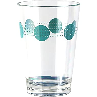 Corelle Coordinates by Reston Lloyd South Beach Acrylic Juice Glasses (Set of 6), 8 oz., Clear