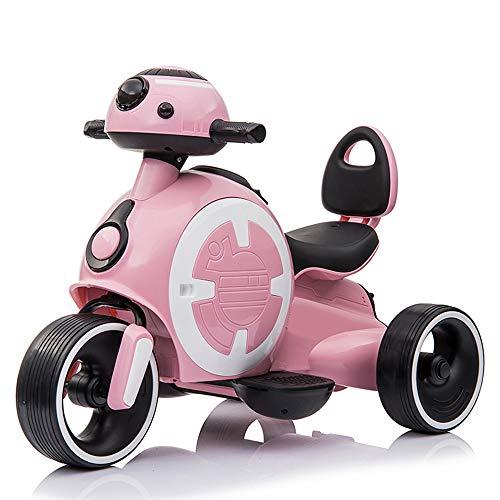 Coche Eléctrico para Niños Motocicleta 3-9 Años Triciclo Eléctrico para Bebés Coche para Niños Recargable Puede Sentarse, Cargar 25 kg para Movimiento de Jardín al Aire Libre