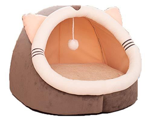 Abcoll Camas para Gatos de La Manera Camas Cueva Los Gatitos de Interior Linda Albergue Casa del Iglú con ExtraíBle Lavable Almohadilla del Amortiguador de Casa Ideal for Mascotas