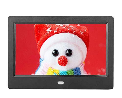 7 Zoll HD LED Anzeige Digitaler Bilderrahmen 1024 x 600 Digitaler Bilderrahmen mit MP3 Weckerfunktion / 4 Film Player/Kalender Digitaler Bilderrahmen (EU)