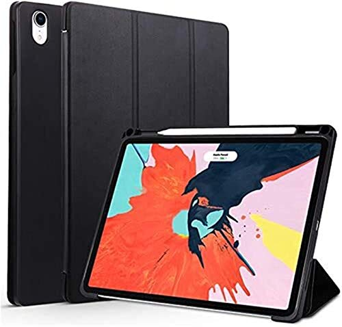 YNLRY Tab Accessories for IPad Pro 11 2018, Trifold Stand Case with Pencil Holder Cover Magnetic Smart Case for IPad Pro11 (Color : Black)
