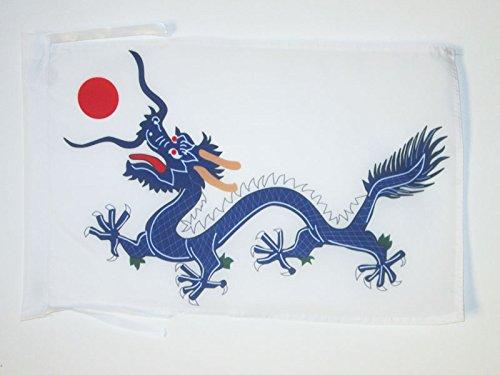 AZ FLAG Drapeau Chine Dynastie Qing 1889 45x30cm - PAVILLON Dragon Chinois 30 x 45 cm Haute qualité