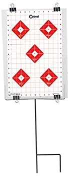 Caldwell Ultra Portable Target Stand with Tear Down Design and Targets for Outdoor Range Shooting and Hunting  12  x 18