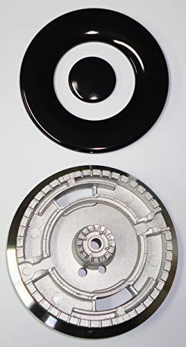 Whirlpool Brenner Tripla Corona ultrarapido komplett mit emaillierter Abdeckung für Gas Kochfeld - 481236068319 - S6213+B