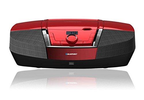 Blaupunkt BB12RD Boombox mit Radio/CD/MP3-Player (mit LCD-Display, USB) rot