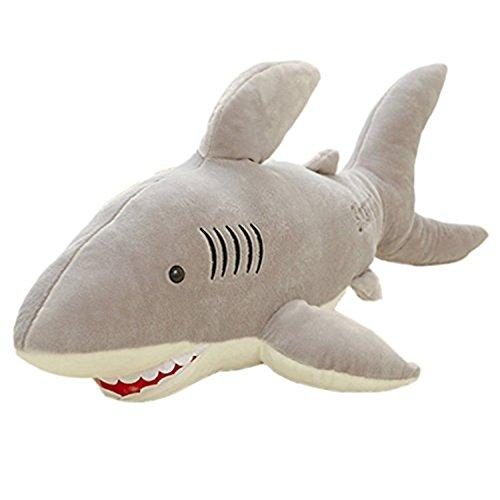 YunNasi Riesen Plüschtier Hai Weiches Plüsch Kissen dient Auch als Einschlafhilfe (100cm)