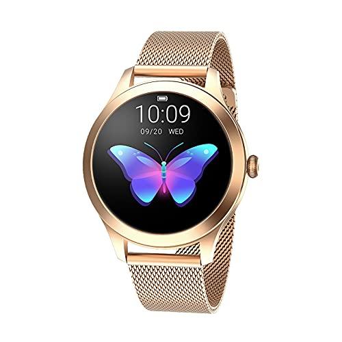 SmartWatch - Reloj de fitness para hombre y mujer con saturímetro (SpO2) y presión sanguínea de monitorización del ritmo cardíaco, impermeable IP67 con notificaciones de mensajes.