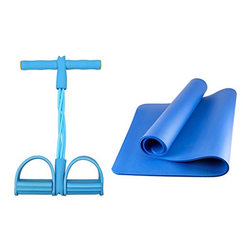 Yunteng-trainingsapparatuur Fitness Yoga Set 2-delige 1 Yoga Mat, 1 x Yoga Weerstand Band Voetpedalen, Perfect Yoga Set voor Beginers
