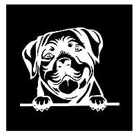 車 ステッカー犬 15.7 * 13.7Cm車のステッカーRottweiler犬のぞき見車のデカール反射レーザー3D車のステッカーオートバイビニール車のスタイリング