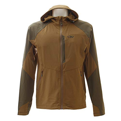 Outdoor Research Men's Ferrosi Hooded Jacket, Coyote/Fatigue, Medium