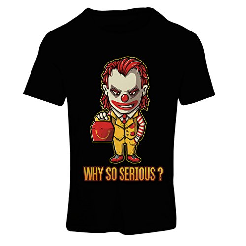 lepni.me N4443F Camiseta Mujer Why So Serious? (XX-Large Negro Multicolor)