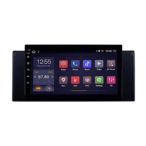 Reproductor Multimedia De Navegación GPS con Pantalla Táctil De 9 Pulgadas para BMW E39 X5 E53, BT/WiFi/Mirrorlink/SWC/Android 8.1 Doble DIN/Cámara De Visión Trasera,4 Core-WiFi: 4+64G