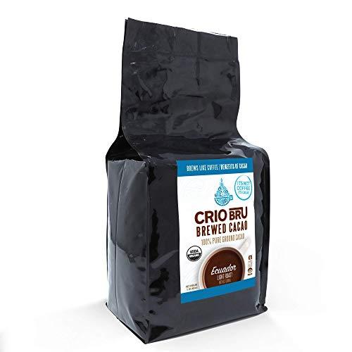 Crio Bru Ecuador Light Roast 24oz (1.5 lb) Bag | Organic Healthy Brewed Cacao Drink | Great Substitute to Herbal Tea and Coffee | 99% Caffeine Free Gluten Free Low Calorie Honest Energy