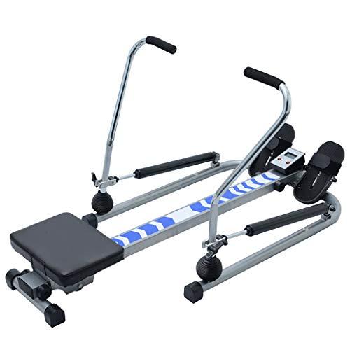 J+N Rudergerät Rudergerät Wasserwiderstand Hydraulisches Rudergerät Heimtraining Indoor-Fitnessgeräte Bauchmuskeln 12 Widerstandsregler