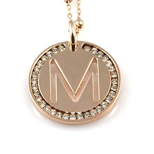 Collana con lettera iniziale donna ramata (M)
