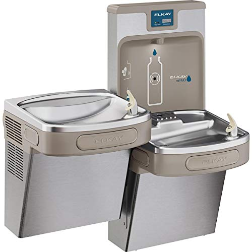 Elkay LZSTL8WSSP Enhanced EZH2O Bottle Filling Station, & Versatile Bi-Level ADA Cooler, Filtered 8 GPH Stainless
