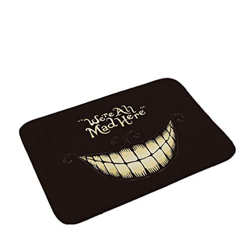 Nunbee Paillasson Lettres Noires Designe Tapis de Sol antidérapant extérieur d'entrée Interieur Fibre de Coco Geek Chat Chouette cerf Multicolore, Rire 40 *...