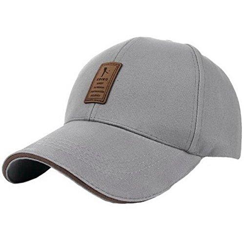 Ukerdo Uomo Solido Cotone Comodo Cappellini da Baseball Regolabile Sport Attrezzato Cappello...