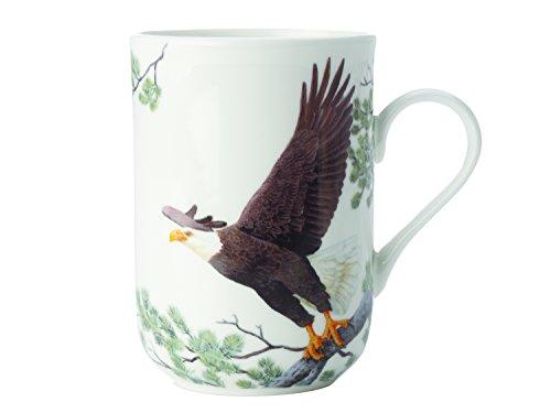 Maxwell & Williams Birds of The World Adler, Geschenkbox, Porzellan, PBW1060 Becher, braun, weiß, 10.5 x 7.5 x 10.5 cm