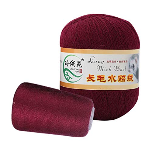 Starry Sky 50 + 20 g / set lange pluche nerts cashmere yarn anti-pilling fijn handbreidraad voor cardigan sjaal cashmere haakgaren