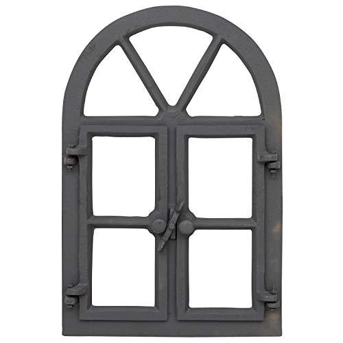 aubaho Stallfenster grau Fenster Öffnen Scheunenfenster Eisen Eisenfenster Antik-Stil