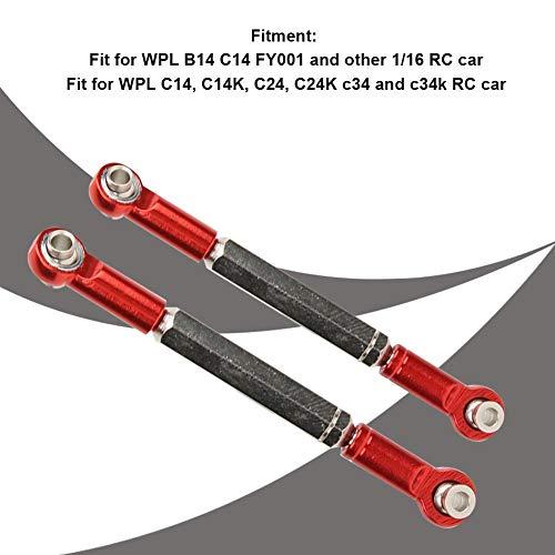 Dilwe RC Metall Vordere hintere Verbindungsstange Gestänge Ersatzteil Passend für WPL B14 C14 FY001 1/16 RC Car
