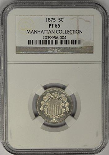 1875 P Shield Nickel Nickel PR65 NGC
