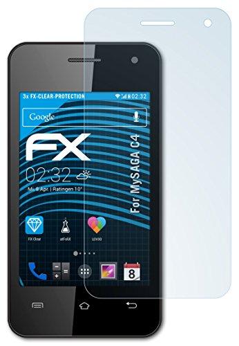 atFolix Schutzfolie kompatibel mit Oukitel C4 Folie, ultraklare FX Bildschirmschutzfolie (3X)