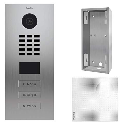doorbird–Kit d2103V + a1061W + sup-d2102V-d2103V–Videoportero (IP 3sonnettes + Soporte + Timbre