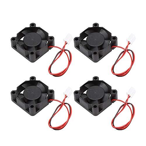 Ventilador de refrigeración, 4PCS Accesorios de impresora 3D de alta calidad Mini ventilador de refrigeración Ventilador pequeño 24V...