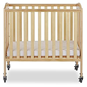 Dream On Me 3-in-1 Folding Portable Crib, Natural, Large