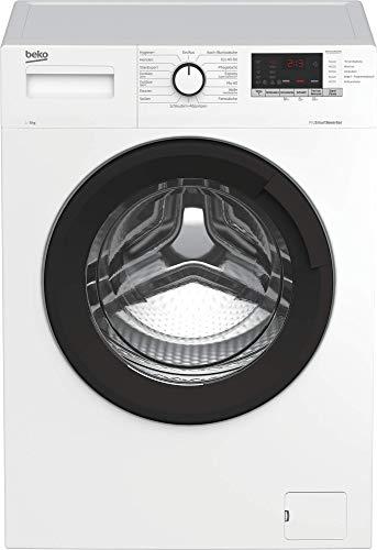 Beko WML81434EDR1 Waschmaschine/Multifunktionsdisplay mit Startzeitvorwahl/1400 U/min/ProSmart Inverter Motor/10 Jahre Motorgarantie/Pet Hair Removal/Nachlegefunktion/Watersafe/8 kg, weiß