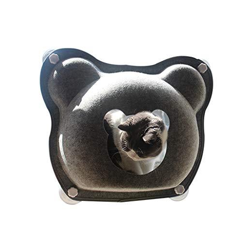 XIANGE100-SHOP Cat Percha Cueva del Gato de Fieltro Cama, Cat House Bed Gato Ventana Hamaca Perca Desmontable y Lavable Colgando Nido Ventosa Tipo Hamaca Jaula para Gatos