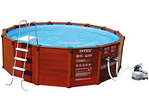 Wood Frame Pool-Set 478x124cm inkl.Sandfilterpumpe