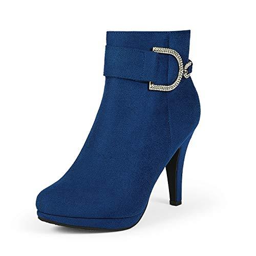 DREAM PAIRS Women's Royal Blue Platform High Heel Ankle Booties Size 7.5 M US Delphine