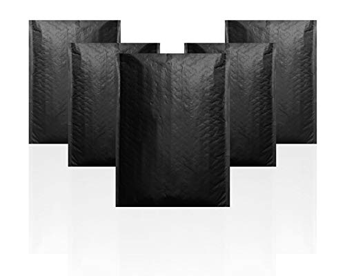 Black Poly Bubble mailers 7.25 x 11 Padded envelopes 7 1/4 x 11 by Amiff. Pack of 20 Poly Cushion envelopes. Peel and Seal. Mailing, Shipping, Packaging and Packing Supplies. Bags with Cushioning